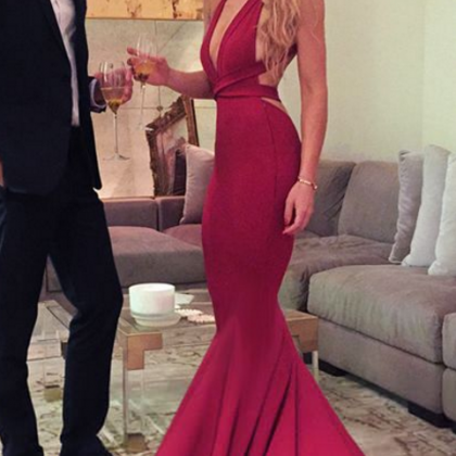 long prom dress, red long prom dres..