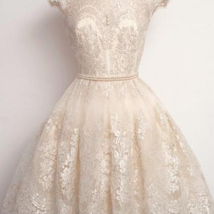 Charming Homecoming Dress,Lace Prom..