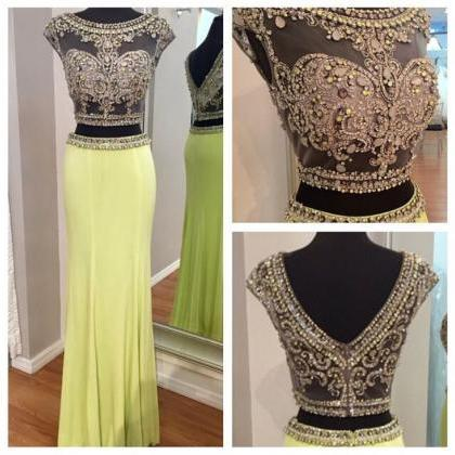 Beaded Prom Dresses,Crystals Prom D..