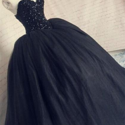 Beaded Amazing Prom Dress,Black Eve..