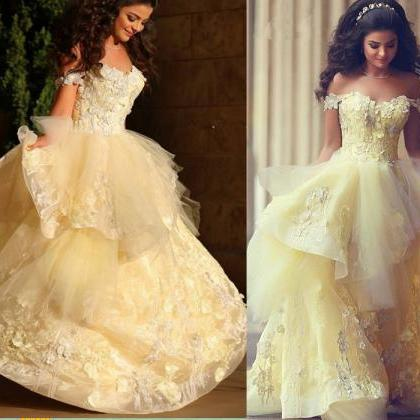 Charming Prom Dress,Appliques Prom ..