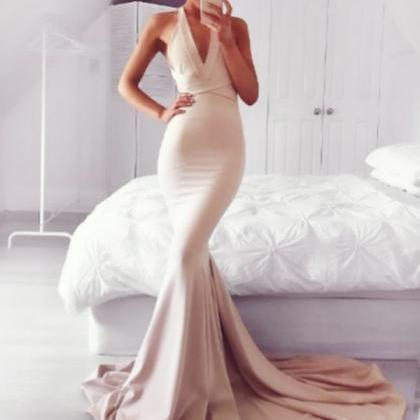 Charming Mermaid Prom Dress, Sexy P..