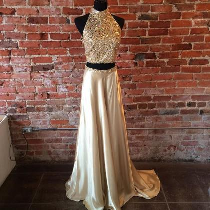 Halter Prom Dresses,Prom Dress,Long..