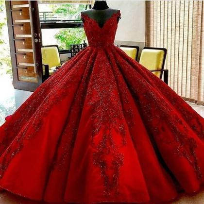 Long burgundy Wedding Dress,Floor L..