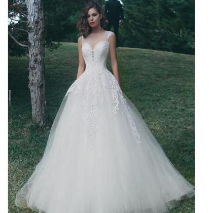 Lace A Line Wedding Dresses, Tulle ..
