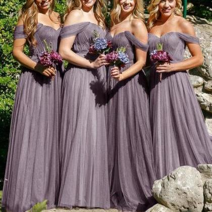 Off-the-Shoulder Simple Bridesmaid ..