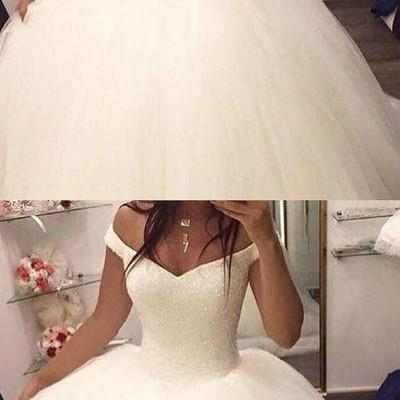 Charming Wedding Dress,Tulle Ball G..
