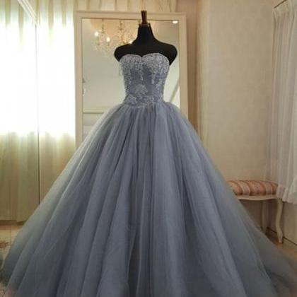 Sleeveless Ball Gown Pageant Dress,..