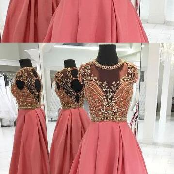 Long Beading Prom Dresses,CHeap Pro..