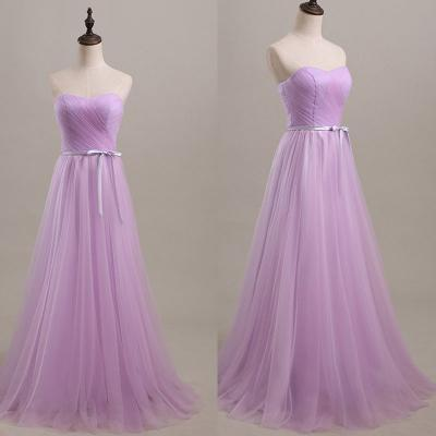 Lilac Prom Dresses,Tulle Prom Dress,Simple Prom Gown,Modest Prom Dresses,Sweetheart Evening Gowns,Evening Gown,Cheap Formal Dress For Teen