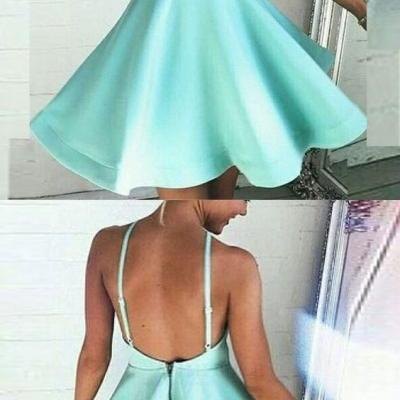 short homecoming dress,mint green homecoming dresses,backless homecoming dresses