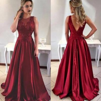 Burgundy Prom Dress,Prom Dresses,Long Evening Gown,Graduation Party Dresses,Prom Dresses For Teens,A Line Prom Dress ,