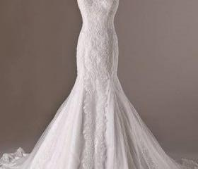 white lace tulle wed..