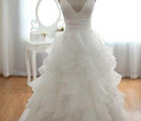 Beach Wedding Dress,..