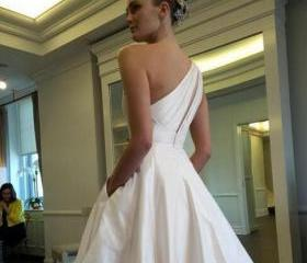 One Shoulder Taffeta..