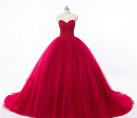 Sweetheart Red Tulle..