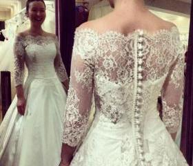 Lace Wedding Dress,L..