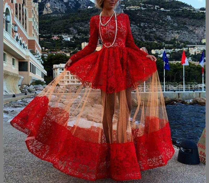 Red Prom Dress,Long Sleeve Prom Dress,Lace Prom Dress,Fashion Prom Dress,Special Occasion Dress,New Arrival Prom Dress,Sexy Party Dress