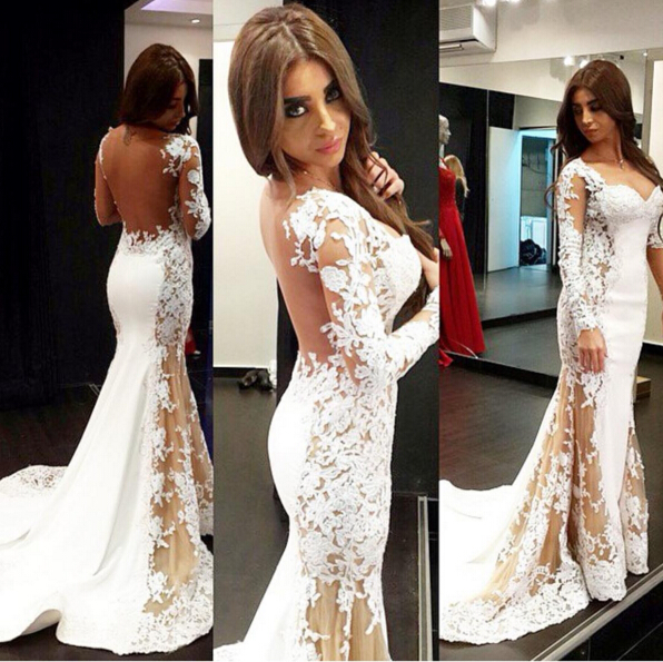 9c116539a7 Glamorous Prom Dresses, Charming Prom Dress, Sexy Lace Prom Dress, Long  Sleeves Prom Gown, Prom Dresses , Mermaid Appliques Prom Dress, Woman  Evening Dress, ...