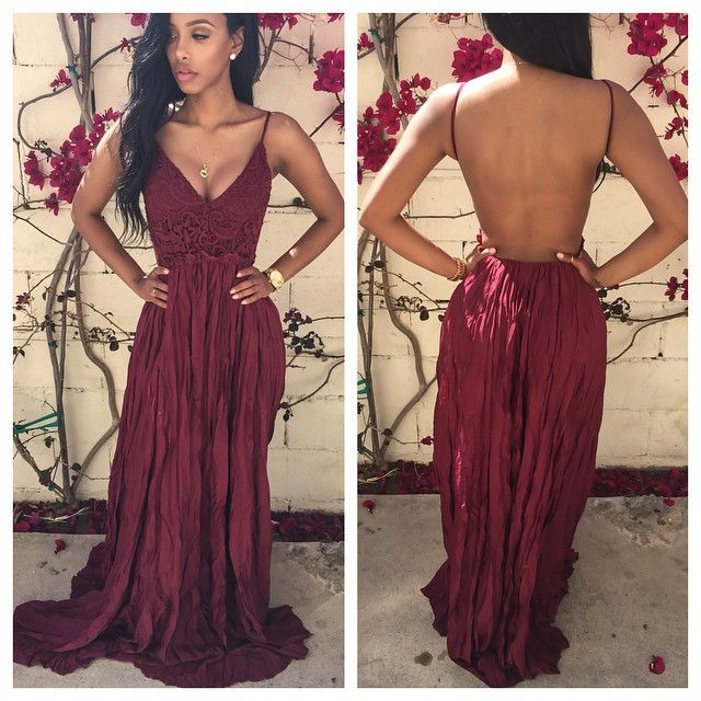 67a518e8855 Sexy Backless Floor-Length Charming Prom Dresses