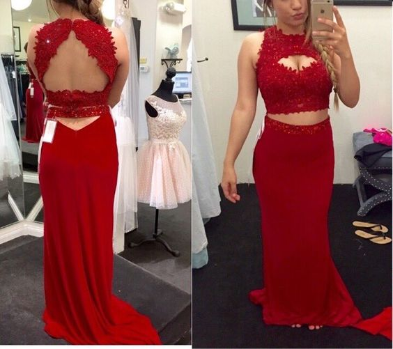 2 piece Prom Dresses,2 Piece Prom Gown,Two Piece Prom Dresses,Prom Dresses,New Style Prom Gown,Prom Dress,Prom Gowns