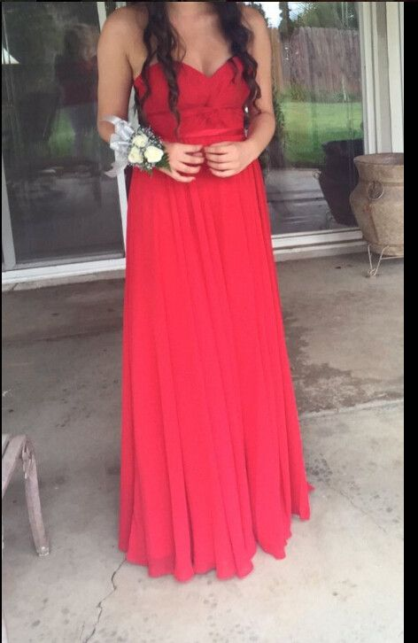 Charming Prom Dress,Sweetheart Neck Prom Dress,Red Chiffon Prom Dress ,Long Prom Dress