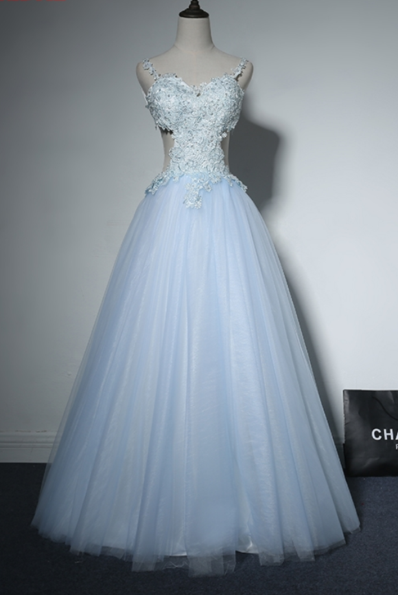 f6c25f35346 Light Sky Blue Long Prom Dresses Sexy Backless 8th Grade Women Lace Formal  Evening Dresses for Graduation Gown Promdress