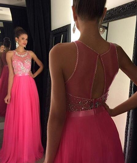 8cb2f2f35e Pink Backless Prom Dresses