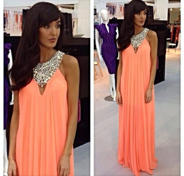 A Line Prom Dresses,Coral Prom Dress,Beading Prom Gown,Simple Prom Gowns,Elegant Evening Dress,Beaded Evening Gowns,Sexy Party Gowns,Coral Prom Dress,Evening Gowns