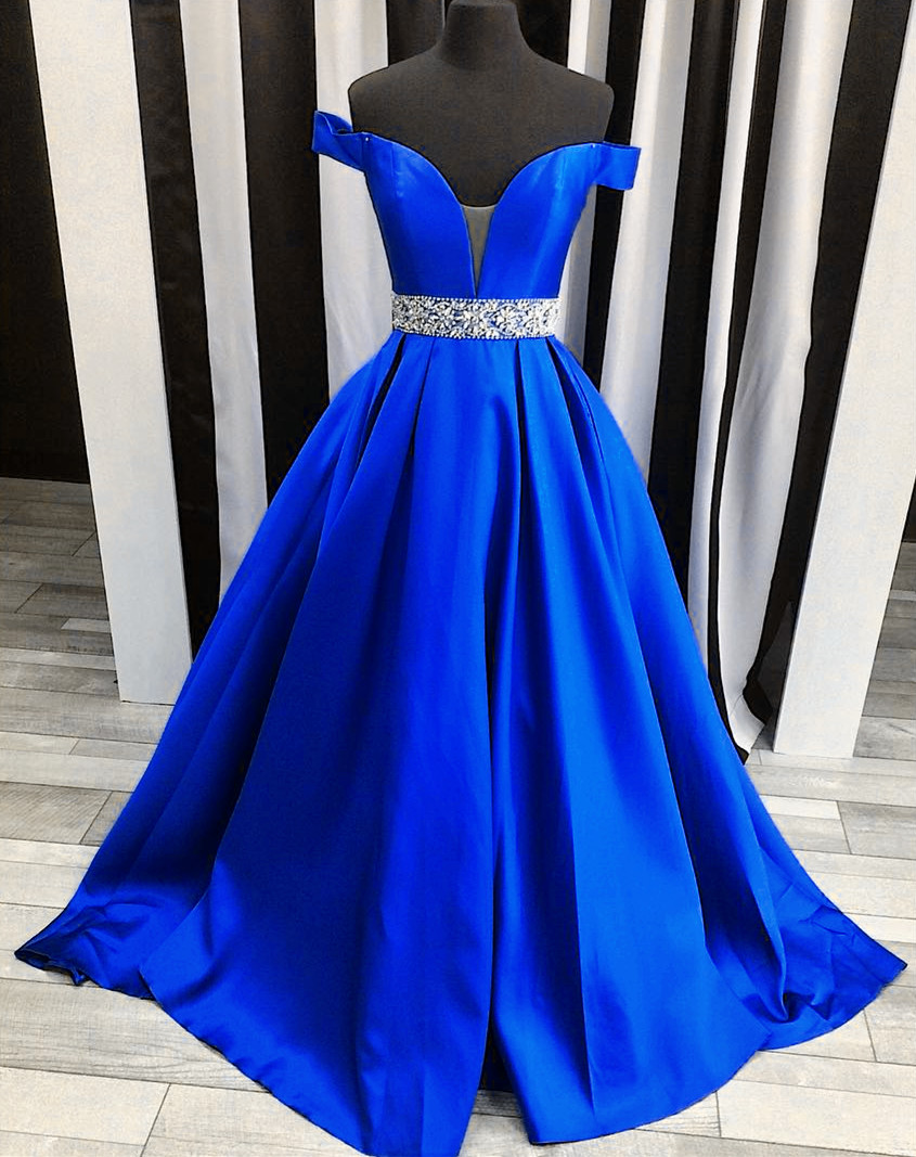 Sexy Off The Shoulder Satin Prom Dress e25014152