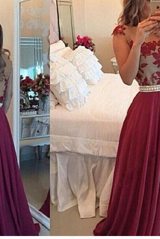 Burgundy Prom Dresses,Backless Prom Dress,Lace Prom Dress,Wine Red Prom Dresses,Formal Gown