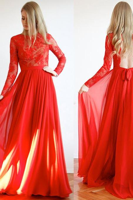 Backless Red Formal Dress,Long Prom Dresses,Prom Dresses,Evening Dress, Prom Gowns, Formal Women Dress,prom dress