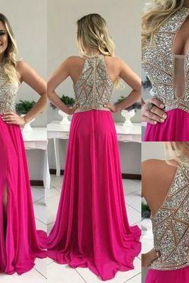 Charming Prom Dress,Beading Prom Dress,A-Line Prom Dress,Chiffon Prom Dress