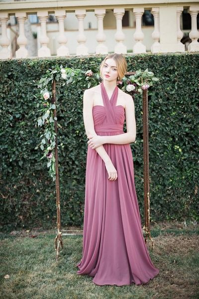 Long bridesmaid dress,chiffon bridesmaid dress,sleeveless bridesmaid dress,elegant bridesmaid dress,cheap bridesmaid dress