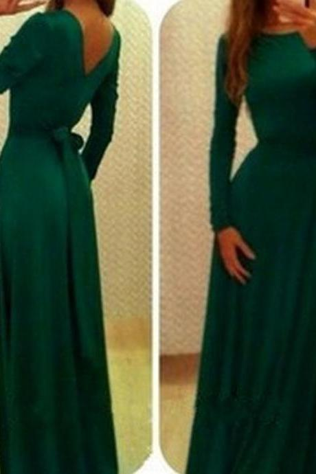 Dark Green Prom Dress,Bodice Prom Dress,Maxi Prom Dress,Fashion Prom Dress,Sexy Party Dress, New Evening Dress