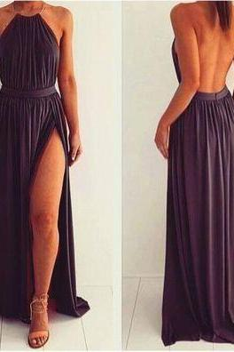 Charming Prom Dress,Backless Prom Dress,Chiffon Prom Dress,Long Prom Dress