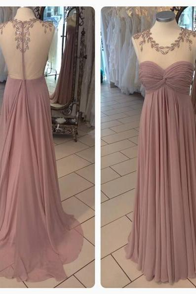 Simple Bridesmaid Dress,Prom Dress,Cheap Graduation Dress,Chiffon Formal Party Dress