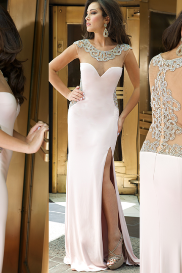 High Quality Prom Dress,Mermiad Prom Dress,Satin Prom Dress,O-Neck Prom Dress, Beading Prom Dress
