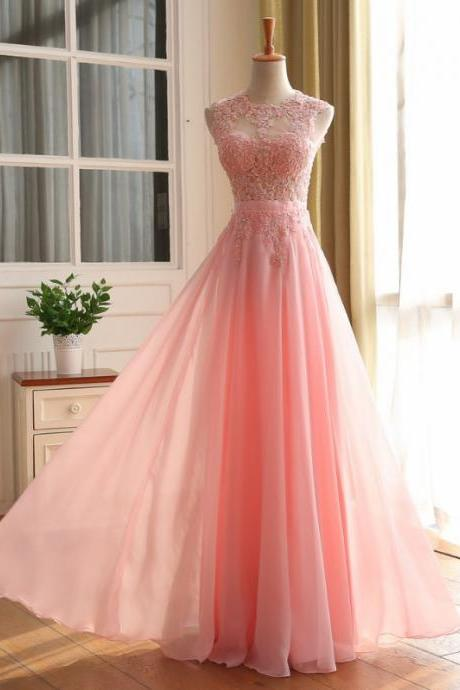 Lace Appliques Prom Dresses, Floor Length Prom Dress,Lace Appliques Prom Dress,Beading Prom Dress, A-line Prom Dress, Chiffon Prom Dress, Elegant Prom Dress, Bridesmaid Dress,,custom made Graduation dresses, vogue formal dresses