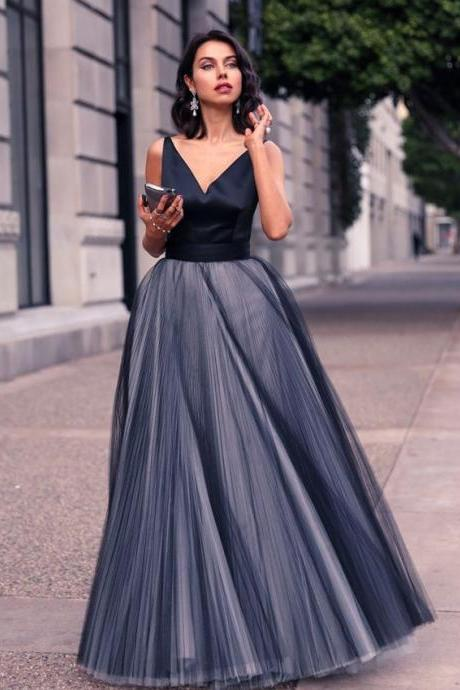 Navy Blue Prom Dresses,Prom Dress,Sexy Prom Dress,Dark Navy Prom Dresses,Formal Gown,Tulle Evening Gowns,Party Dress,Prom Gown For Teens,Formal Dress