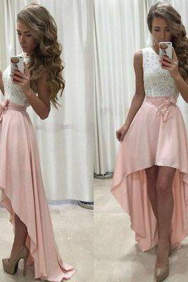 Sexy Prom Dress, Unique Prom Dress,High low prom dresses