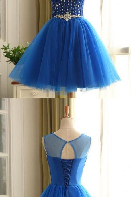 homecoming dress, short homecoming dress, blue homecoming dress, dress for homecoming dress, homecoming dress with beads