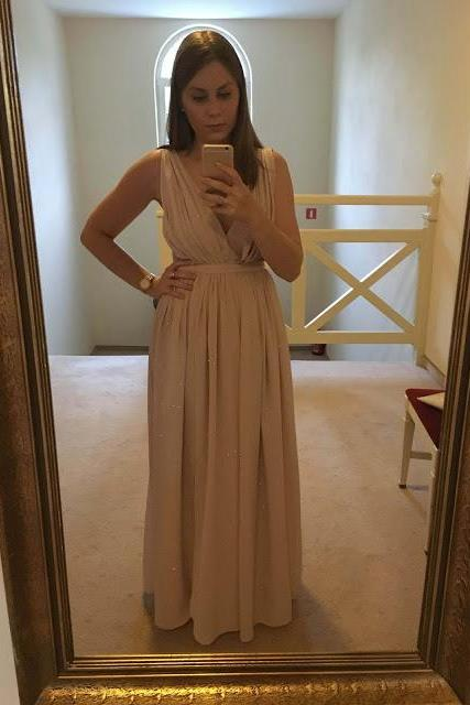 Prom Dresses,Prom Dress,Popular Simple V-neck Chiffon Sleeveless Long Evening Dress