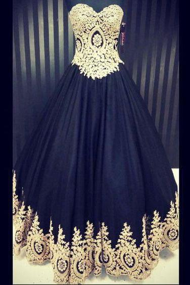 Black Prom Dress,Ball Gown Prom Dress,Prom Gown,Princess Prom Dresses,Sexy Evening Gowns,New Fashion Evening Gown,Lace Party Dress For Teens