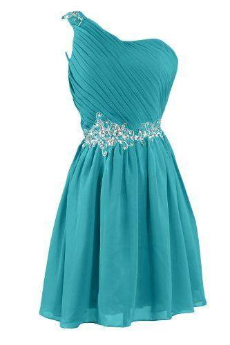One Shoulder Homecoming Dress,Homecoming Dresses,Homecoming Gowns,Prom Gown,Sweet 16 Dress,Homecoming Dress,Cocktail Dress,Evening Gowns