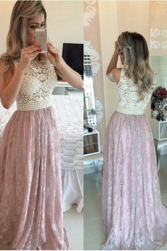 Pink Evening Gowns,Lace Formal Dresses,Prom Dresses ,Fashion Evening Gown,Beautiful Evening Dress,Pink Formal Dress,Lace Prom Gowns