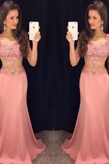 Blush Pink Prom Dresses,Lace Prom Dress,Sexy Prom Dress,Mermaid Prom Dresses,Formal Gown,Evening Gowns,Elegant Party Dress,Long Prom Gown For Senior Teens