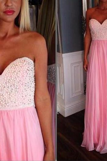Chiffon Prom Dresses,Pink Prom Dress,Modest Prom Gown,Prom Gowns,Evening Dress,Princess Evening Gowns,Sparkly Party Gowns,Long Prom Gowns,Evening Dress
