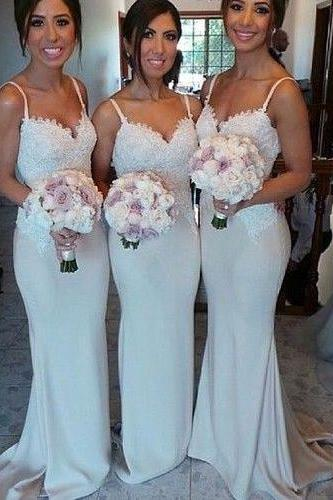 New Style Bridesmaid Dress,Long Bridesmaid Gown,Bridesmaid Gowns,Mermaid Bridesmaid Dresses,Lace Bridesmaid Gowns,Bridesmaid Dress,Vintage Bridesmaid Gowns With Spaghetti Straps