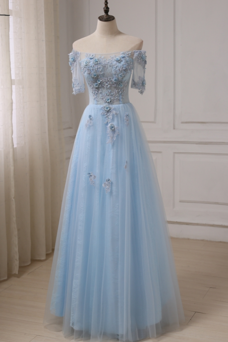 Robes De Soiree Boat Neck See-though Prom Dresses Applique Beaded Sequins Floor Length Formal Evening Dress